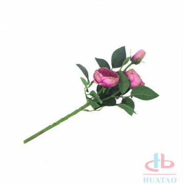 Single Stem Real Touch artificial open Rose flowers