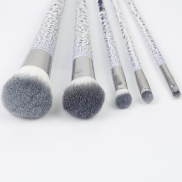 5pcs porcelain grain professional brush set for makeup