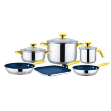 9 pcs Cookware Set with Griddle & Pan