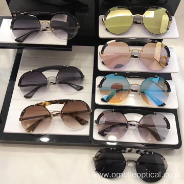 Hot Sale Rimless Sunglasses with Colorful Lens