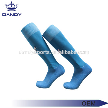 Good Quality for Soccer Socks cotton stripes long blue soccer socks export to China Exporter