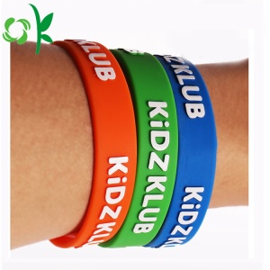 Customized Word Promotional Bracelets Silicone Wristband