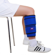 Cold calf therapy wrap with ice gel pack