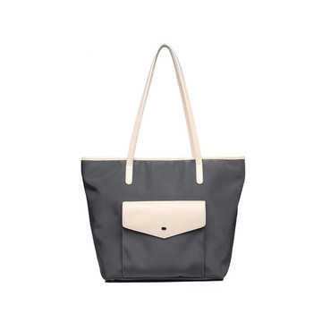 Fashion Unique Waterproof Pu Nylon Lady Tote Handbag