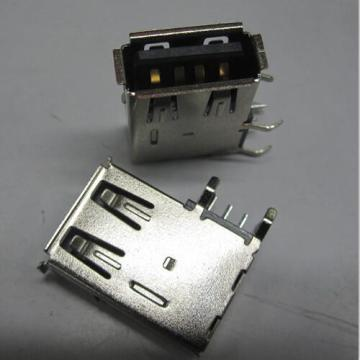 USB A Receptacle Angle Upright DIP Body Reverse