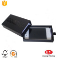Luxury black cell phone packaging cardboard box