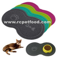bone shaped pet bowl mat