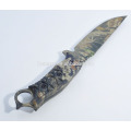 Camouflage Coating Fixed Blade Army Knife