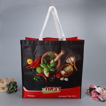 Non-woven film coated bag