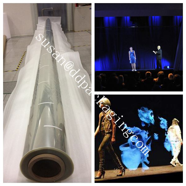 3D hologram projection stage film musion foil/eyeliner foil