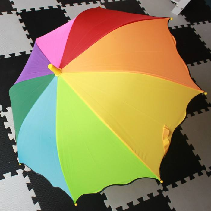 Rainbow color automatic kids umbrella03