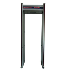 walkthrough metal detector gate in alarm