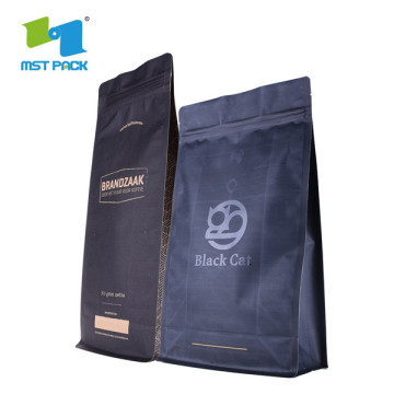 Resealable Stand Up Paper Coffee Bags With Zipper