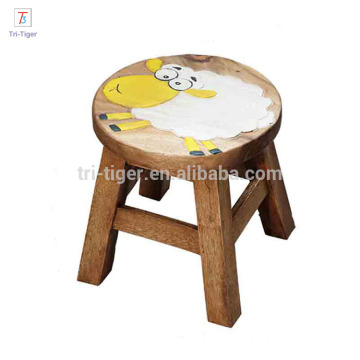 Thailand style Animal foot low wooden stool