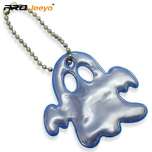 Reflective Blue PVC Ghost Shape Pendant