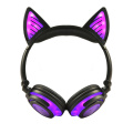 Wireless Stereo Colorful Cat Ear LED Light Headphones