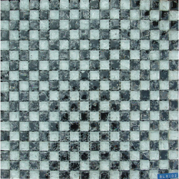 Classic White Cracked Glass Mosaic