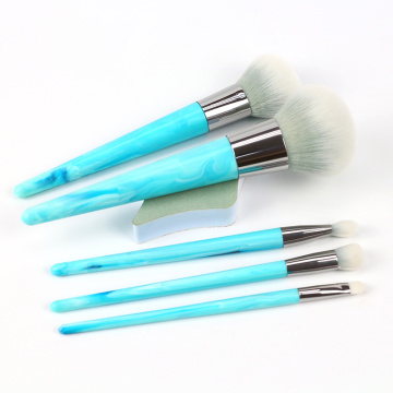 Mermer Blue Simulated Marble Handle Brushes profesionale për grim