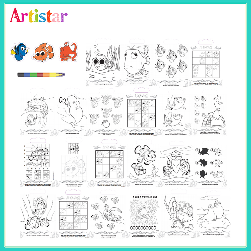 Disney Pixar Finding Dory Colouring Set 2