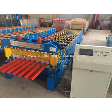 Zinc colored steel metal roof sheet machine