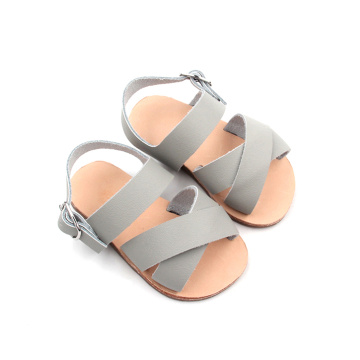 Grey Color Baby Summer Sandals Shoes
