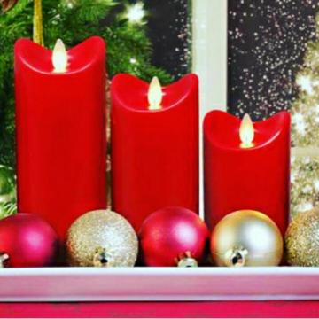 Battery Powered LED Pillar led Wax Candles