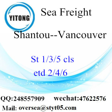 Shantou Port LCL Consolidation To Vancouver
