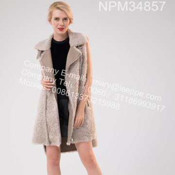 Icelandic Lamb Fur Gilet Winter For Women
