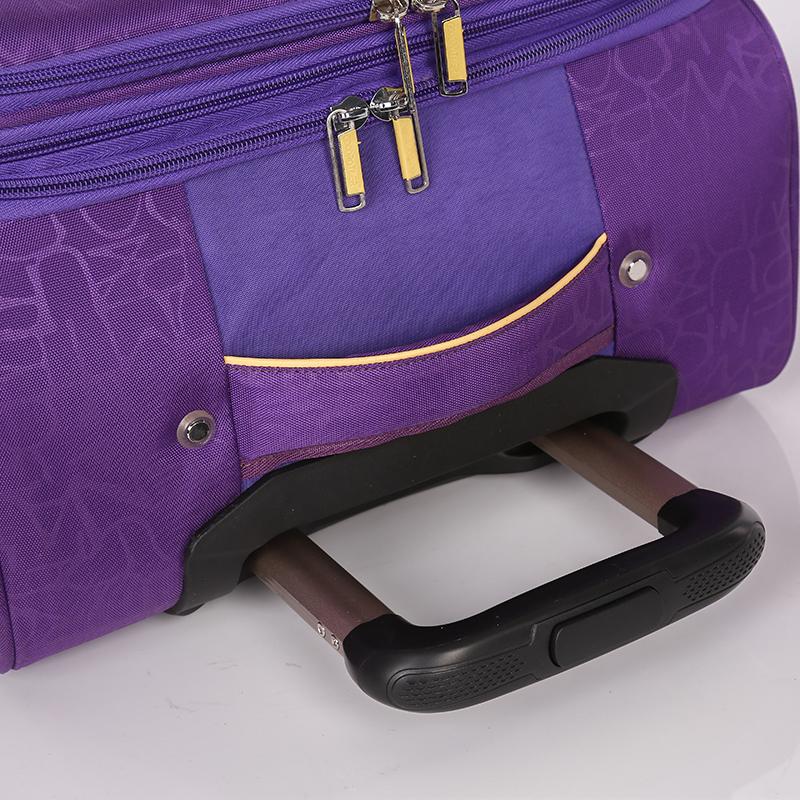 Waterproof polyester EVA soft travel luggage4