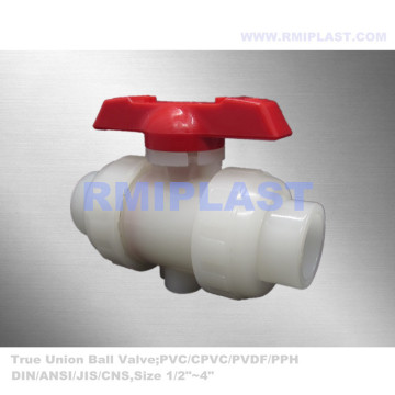 True Union Ball Valve PVDF Socket Welding