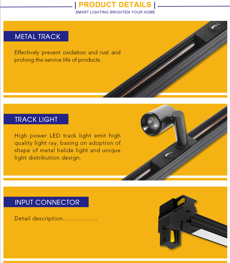 Multi-function LED Track Light