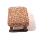 Classical solid wood cushion low stool  upholstered Footstool