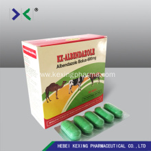 factory customized for Albendazole Tablet Animal Albendazole 300mg Bolus export to Spain Factory