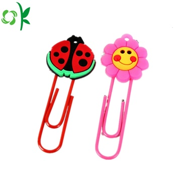 Top Quality Silicone Bookmark for Decoration