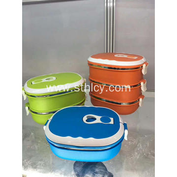 Rectangular Airtight Stainless Steel Food Container Set