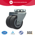 2 inch bolt hole twin wheel TPR industrial caster
