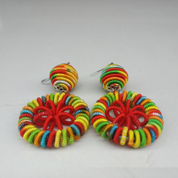Thread Weaved Earring Jewelry For Women
