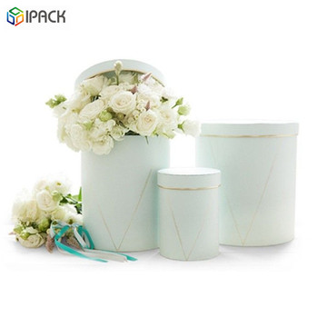 Custom Luxury Round Paper Flower Gift Hat Box