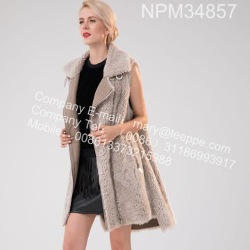 Icelandic Lamb Fur Gilet Women In Winter