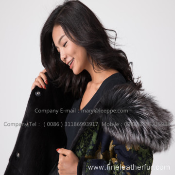 Mink Fur Overcoat In Winter For Women
