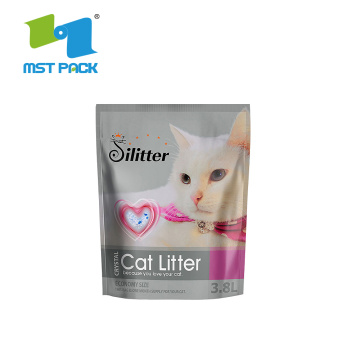 Laminated Plastic Resealable Custom Pet Feed Bags Animal