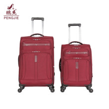 Factory sale soft nylon fabric travel luggage bags