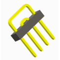 2.54mm Pin header Single row U type 4P