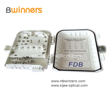 8 Cores Wallmount Outdoor Fiber Optics Distribution Box