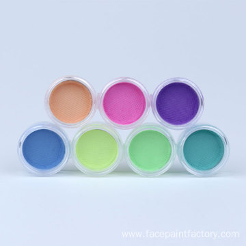 Neon uv pastel color eyeliner makeup face paint