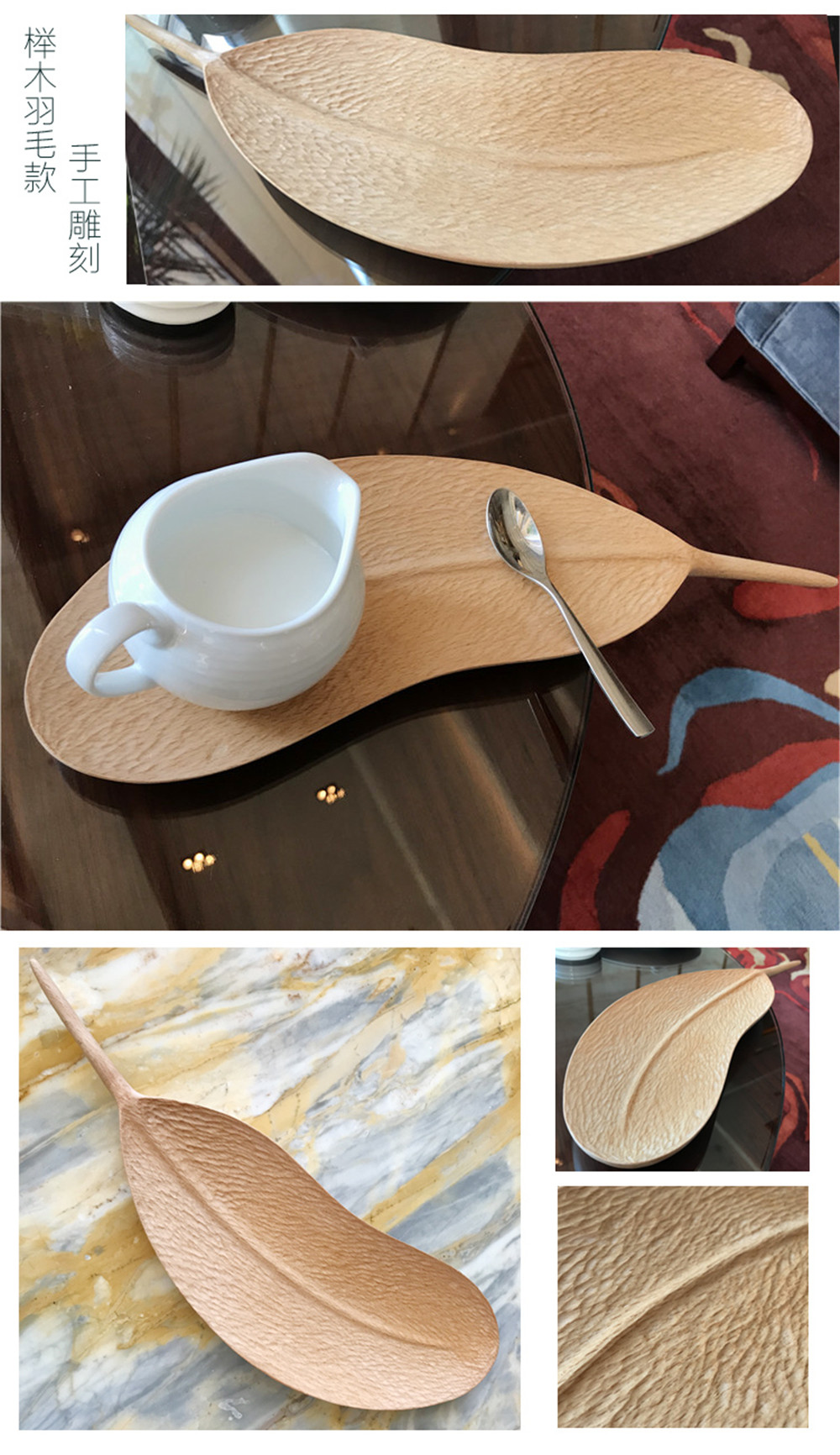 creative walnut wooden tray