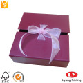 Chrismats gift cardboard box with ribbon