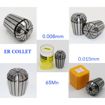 High Accuracy 0.008mm ER20 Spring Collets