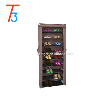 9 tier dustproof fabric sliding door shoe cabinet