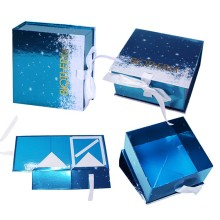 Luxury Magnetic Collapsible Paper Gift Boxes With Ribbon